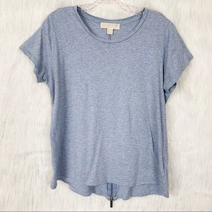 Blue Michael Kors tee w/zipper detail-Size Large